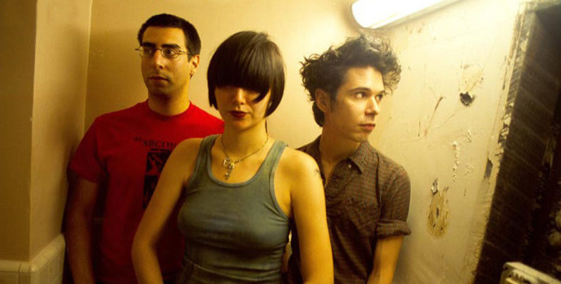 The Yeah Yeah Yeahs (in a bathroom).